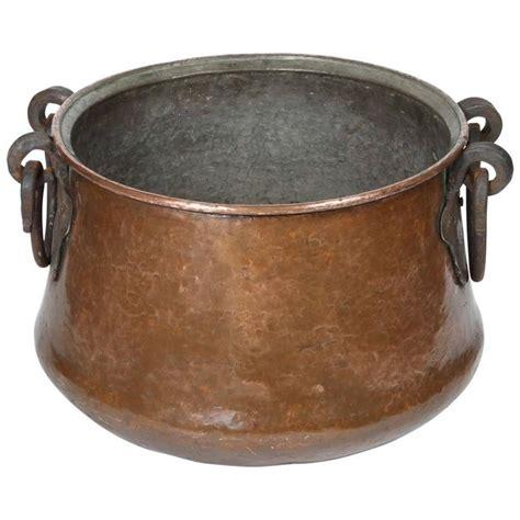vintage hand forged copper cauldron copper cookware copper cookware set copper