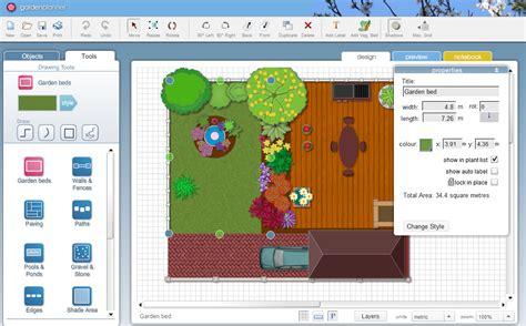 small blue printer garden garden planner product information screenshot