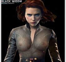 naked scarlett widow johansson black as