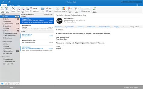 Office 365 Outlook On Mac by Boost Your Productivity With The New Screen View