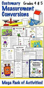 Grade 5 Measurement Conversion Chart Customary Measurement Conversions Activities For 4th And