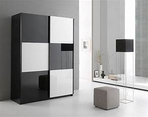 Armoire Noir Laqué : armoire noir laque ~ Teatrodelosmanantiales.com Idées de Décoration