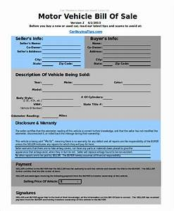 Free Vehicle Bill Of Sale Template Auto Bill Of Sale Template 6 Free Excel Pdf Documents