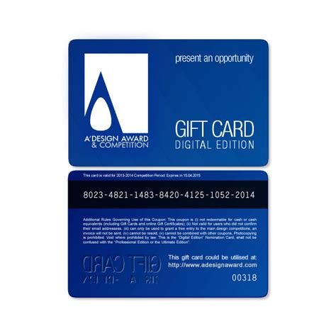 design award  competition gift cards