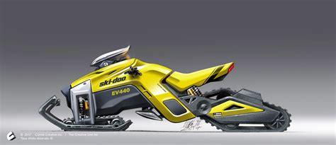 tracks drive electric snowmobile  martin aube