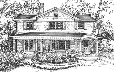 drawn house pencil   color drawn house