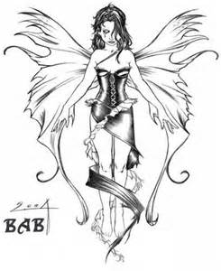 Dark Fairy Tattoo Sketches and Drawings
