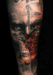Information About Half Skeleton Face Tattoo Yousenseinfo
