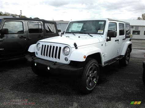 white jeep 2018 2018 jeep wrangler unlimited sahara 4x4 in bright white
