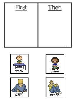 transition assistance autism visual supports