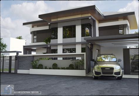 J S Home Design : 2 Storey Residential House By J.j.s