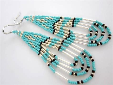Native American Southwestern Style Beaded Earrings
