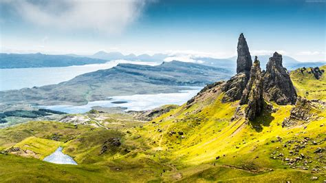 wallpaper isle  skye scotland europe nature travel