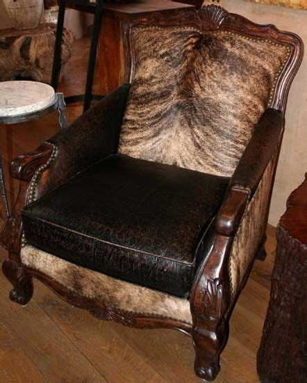 Leather Cowhide Furniture by Pretty Brindle Cowhide And Leather Chair Cowhide