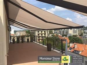 Store électrique Terrasse : store banne ultimo coffre lectrique led gris anthracite ~ Premium-room.com Idées de Décoration