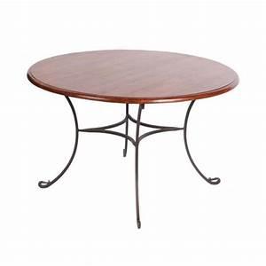 Table Fer Forgé Ronde : table repas palissandre et fer forg ronde mobilier ~ Teatrodelosmanantiales.com Idées de Décoration