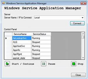 How To Manage Windows Service Application on our Local ...