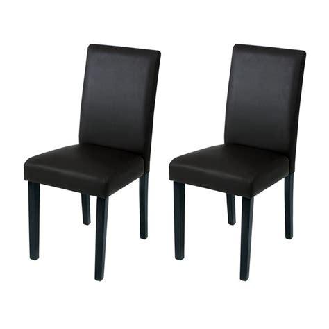 chaises simili cuir chaise de salle a manger simili cuir noir