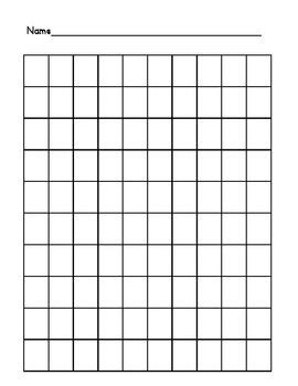 foto de 100 chart filled and blank Preschool charts Sticker