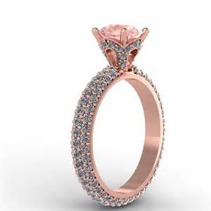 micro pave engagement ring gold morganite engagement ring made
