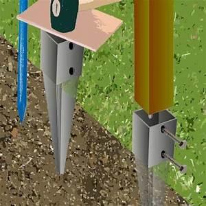 Comment Fixer Un Poteau Bois Au Sol : comment fixer un poteau bois au sol maison design mail ~ Dailycaller-alerts.com Idées de Décoration