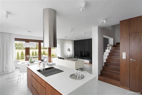 nowoczesna kuchnia  salonem  bieli inspiracja homesquare