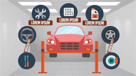 Car In Service by Garage Car Service Animated Explainer