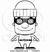 Burglar Cartoon Clipart Headed Block Happy Outline Drawing Royalty Illustration Lineart Vector Cory Thoman Robber Clipartmag Senior sketch template