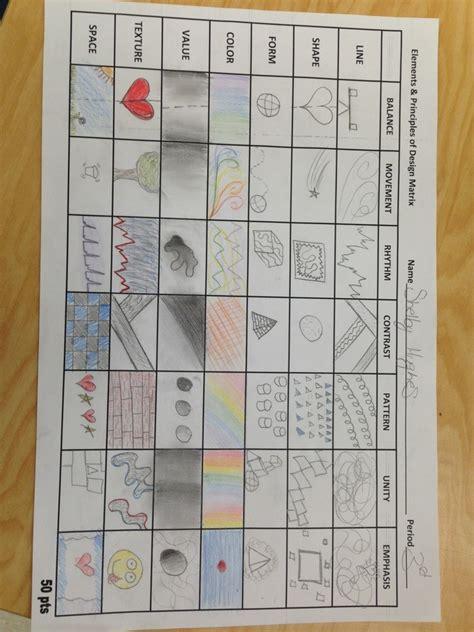 principles and elements of design design matrix mrs catlin s