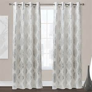 Allen Roth Curtains Bristol by 84 White Curtain Panels Window Curtains Drapes