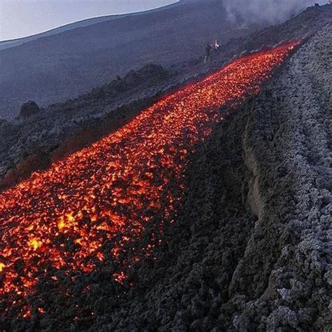 lava flow  mount etna  zafferana etnea italy