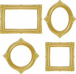 15 Vintage Gold Borders And Frames Vectors Images - Gold ...