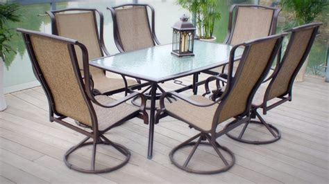 Cheap Patio Dining Sets by Seven Traditional Patio Dining Set With Sling Chairs
