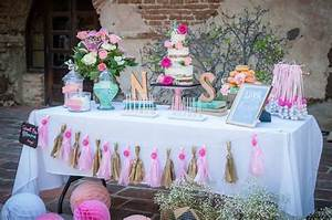 kara39s party ideas shabby chic book themed bridal shower With shabby chic wedding shower ideas
