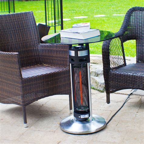 bistro table infrared heater 360 heat distribution dfohome