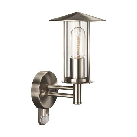 outdoor wall light with pir sensor in stainless steel by