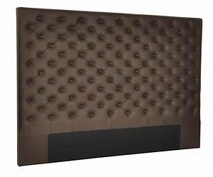 Tete De Lit Marron : t te de lit chesterfield simili domia couleur marron longueur 160 cm ~ Preciouscoupons.com Idées de Décoration