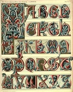 complete alphabets design alphabet design medieval With manuscript letters