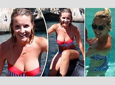 Helen Skelton spills out of JAWDROPPING bikini as she