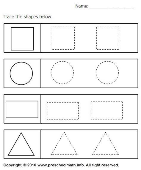 kindergarten shape tracing worksheets shapes worksheet kindergarten shape tracing worksheets