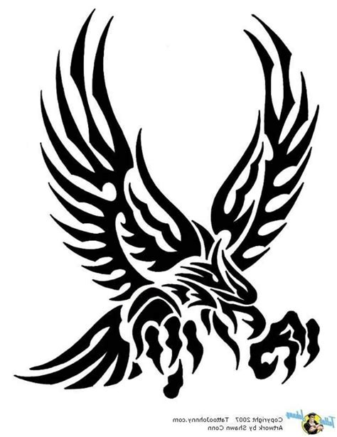 Amazing Tribal Attacking Eagle Tattoo Design