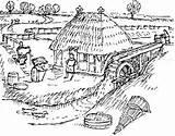 Watermill Coloring Tudor Mills 276px 92kb Drawings sketch template