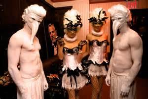 destination wedding dress trend spotted a masquerade theme