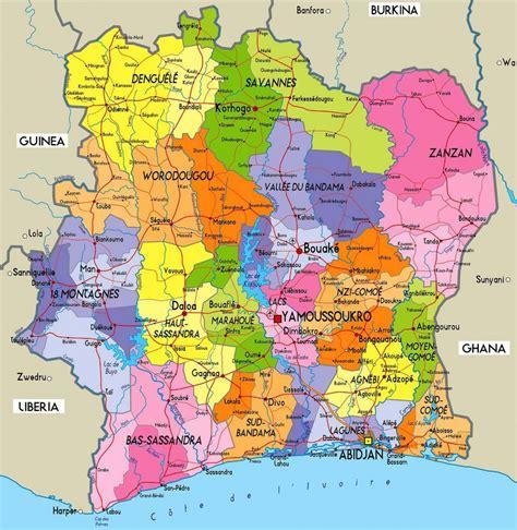 La Cote Divoire Cote D Ivoire Carte La C 244 Te Divoire