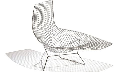 chaise knoll bertoia asymmetric chaise lounge hivemodern com