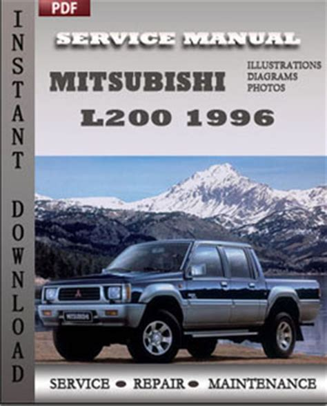 auto repair manual free download 1996 mitsubishi mirage on board diagnostic system mitsubishi l200 1996 free download pdf repair service