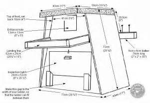 free house blueprints and plans tree nestbox diagram with dimensions the barn owl trust