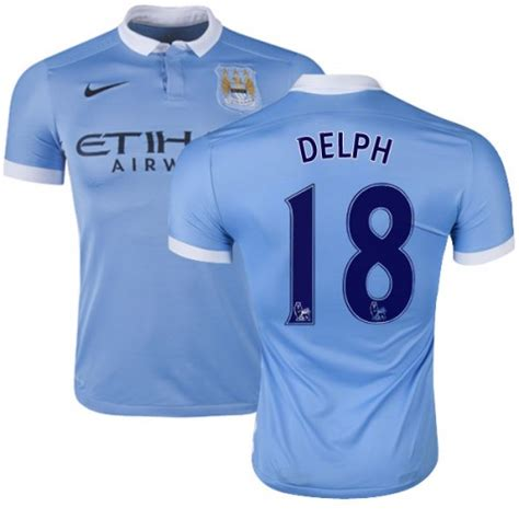 Men's 18 Fabian Delph Manchester City FC Jersey - 15/16 ...