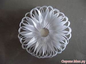 Como Fazer Flor com Fita de Cetim Fina