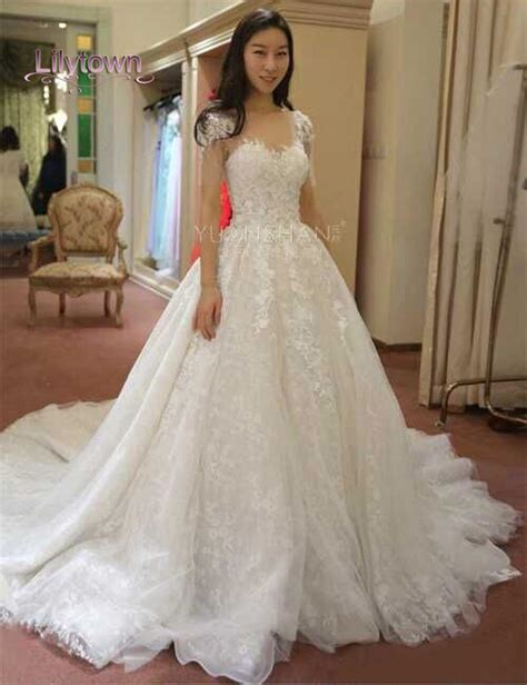 applique on line glamourous lace applique capped wedding dresses sweetheart